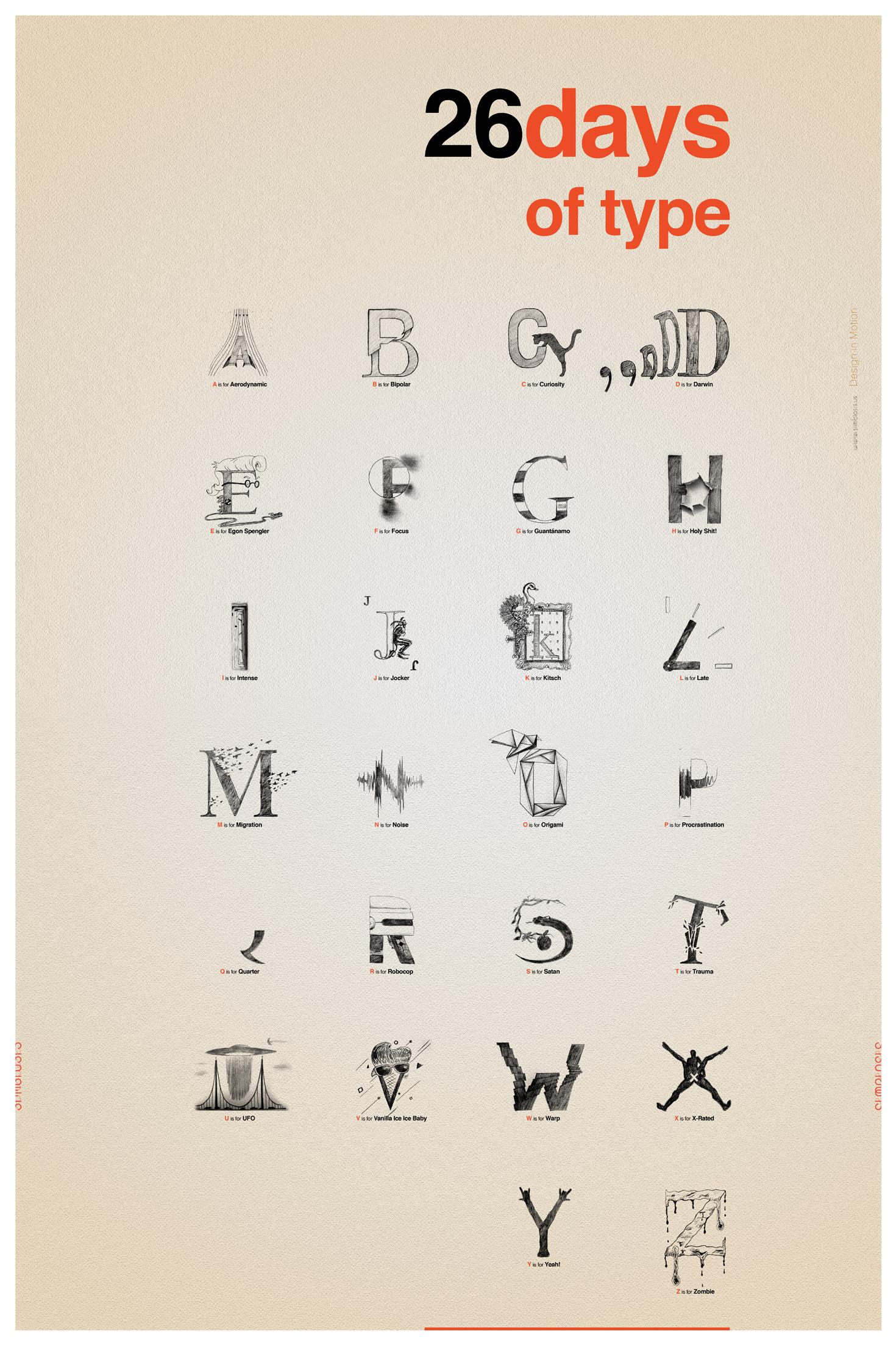 26 Days of type