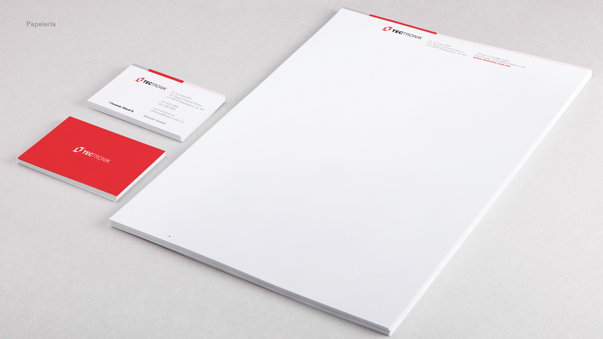 Identidad-corporativa-tectronix-hoja-membretada-tarjetas-presentacion